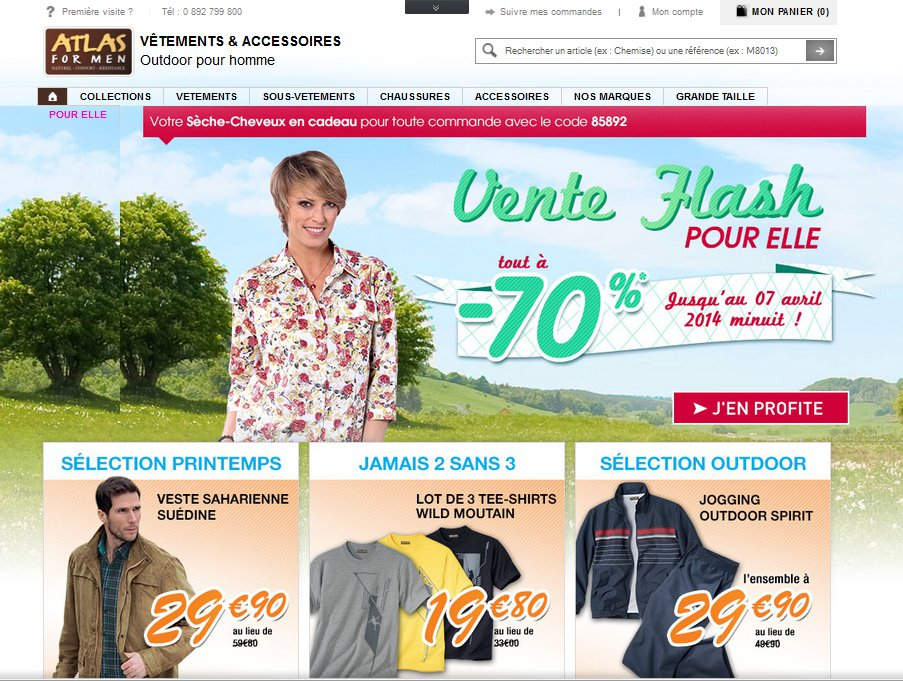 Atlas For Men Vêtements Homme & Accessoires Homme Outdoor